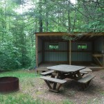 Camp sheds at Chattooga Sounds