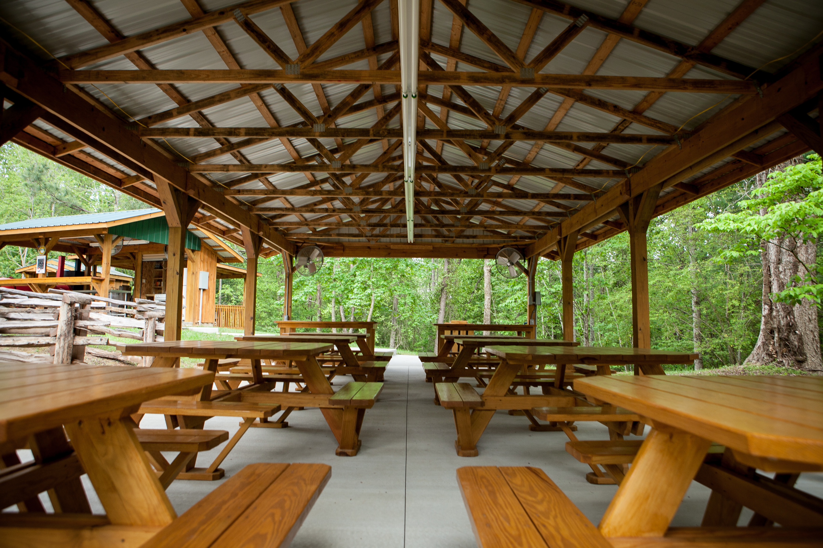 Covered Picnic Shelters : Rates camp information chattooga sounds campground